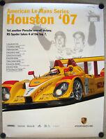 PORSCHE OFFICIAL ALMS RS SPYDER HOUSTON RACECAR POSTER 2007