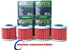 Yamaha WR450F WRF 450 09-17 Filtros De Aceite (paquete de 4) HIFLO HF-140