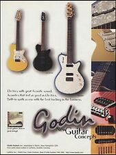 The 1998 Godin Radiator SD LG series guitars ad 8 x 11 advertisement print