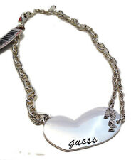 GUESS BY MARCIANO COLLANA DONNA METALLO CUORE WOMAN NECKLACE STEEL COLOR HEART