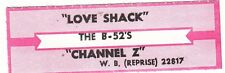 "Juke Box Strip THE B-52""S - LOVE SHACK / CHANNEL Z"