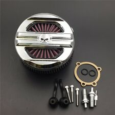 Chrome Air Cleaner Intake Filter System Kit For Harley Davidson 2007-UP XL