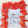 Künstlich Ahornblatt Ahorn Blätter Girlande Garten Halloween Dekoration Banner
