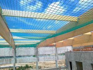 Personenauffangnetz Auffangnetz Fangnetz Baustellennetz 3 x 6 m Mit Randseil
