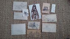 charles tranchand lot de dessins vue d'Angers ancien étude