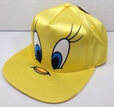 Looney Tunes Tweety Bird SnapBack Shiny Yellow Hat Warner Bros One size Adult.