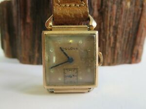 Vintage Bulova Hand Wind 14K Rose Gold Filled 17 Jewels 8AE Watch Runs RP22