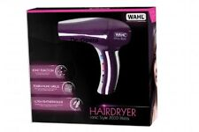 Purple WAHL Professional 2000W Ionic Style Hairdryer Lightweight Hair Blow Dryer