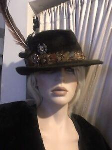 "Vintage Mens Borsalino Hat Size 7 3/8"" 59 Unusual"