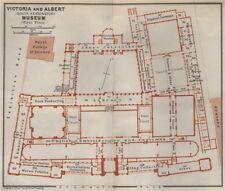 VICTORIA & ALBERT MUSEUM first floor plan. South Kensington, London 1930 map