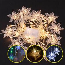 Curtain Window Snowflake Fairy String Lights Christmas LED Waterproof Decor Lamp