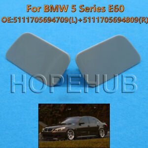 Left+ Right Side Headlight Washer Cover Fit BMW 5-Series E60 2003-2009