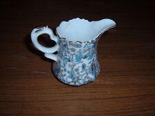 Vintage Lefton China Blue Paisley creamer cream pitcher