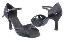 Women's Tan Satin Salsa Ballroom Dance Shoes Heel 2.5 and 3 Very Fine SERA3870