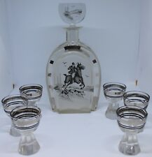 Art Deco Decanter, Decorated With A Huntsman & Hounds, With 6 Glasses | KM Coins