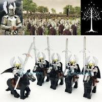 Lord Of The Rings King Return Mordor Military Gondor Fountain Guard+Horse Toys
