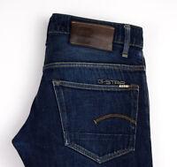 G-Star Raw Herren 3301 Niedrig Konisch Enge Jeans Größe W30 L32 AOZ760