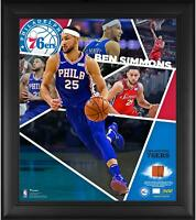 "Ben Simmons 76ers Framed 15"" x 17"" Impact Collage & Piece of TU Ball - Fanatics"