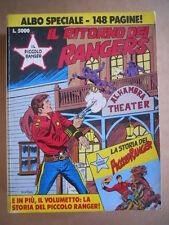 IL PICCOLO RANGER Albo Speciale 1992 Il Ritorno dei Rangers ed. Bonelli   [G363]