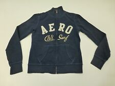 Aeropostale Womens Size Small Faded Navy Blue Full Zip Sweatshirt Good Condition