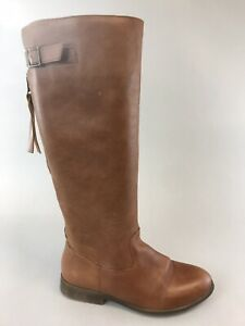 Office London Ladies Brown Leather Mid Calf Zip Up Riding Booties Boots 36 UK3