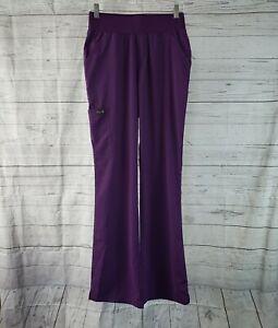 Koi Basics Womens Scrub Bottoms Sz Small Tall Purple