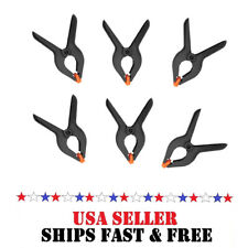 6pc 2 inch Heavy Duty Plastic Spring Clamps Tips Clip Jaw Opening Small Tool