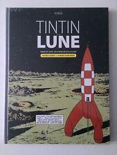 TINTIN ET LA LUNE DOUBLE ALBUM + 16 PG ARCHIVES - HERGE - CASTERMAN - SOUS CELLO