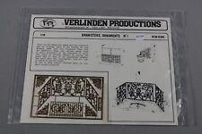 ZF1176 Verlinden 1/35 balustrade maquette 35004 Bannisters Ornaments N° 1