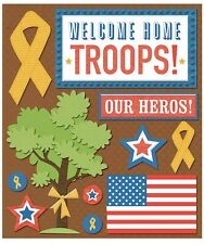 K & Company Scrapbook Embellishments: Welcome Home Sticker Medley, Military
