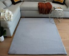 5'x7' Feet Smoke Gray Grey Color Faux Rabbit Skin Soft Solid Area Rug Carpet
