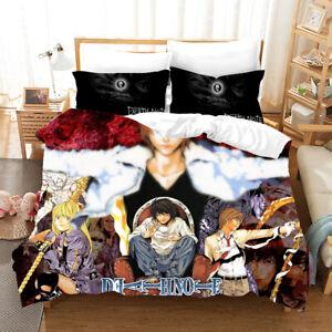Anime Death Note Duvet Quilt Cover Bedding Set Pillowcase Single Double 8#