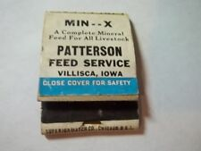 Matchbook Patterson Feed Service Hunting Pals On Back Villisca Iowa #45