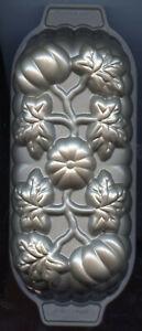 Nordic Ware Bronze PUMPKIN LOAF  Bread/Cake Pan- 1 lb Loaf - Made in USA