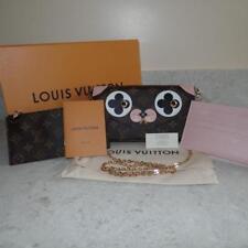 NEW RARE Louis Vuitton DOG Monogram Pochette Felicie Fuschia Crossbody Pink Bag