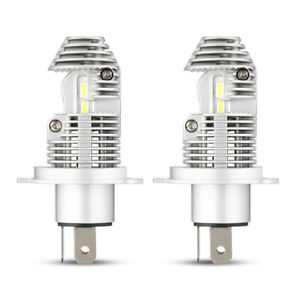 Pair  H4 9003 HB2 LED Headlight Kit Bulbs Hi/Lo Beam 6000K 4000LM White Lamp