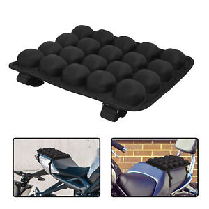 Motorcycle Passenger Seat Pad 3D Air Fillable Cushion Shockproof Pressure Relief