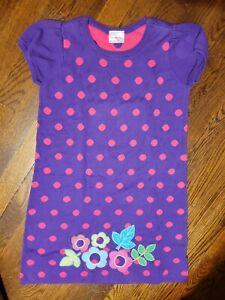 Girls, Hanna Andersson Size 9/10 (140) Purple Pink Polka-dot Sweater Dress