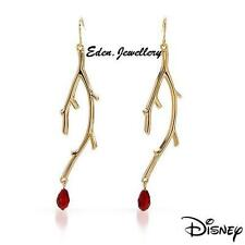 Gorgeous Disney Couture SNOW WHITE Red Glass Bead Vine Earrings COLLECTIBLE