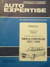 SIMCA CHRYSLER 1307 1308  Revue TECHNIQUE CARROSSERIE AUTO EXPERTISE n° 66 1977