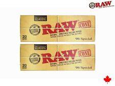 2 Pack - RAW Classic 98 Special Cones Authentic Raw 20/Pack (40 Cones)