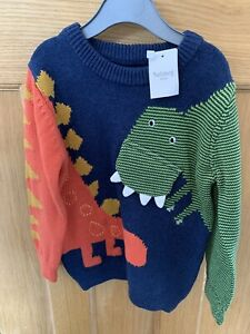 Nutmeg Boys 2-3 Years Dinosaur Knitted Jumper Sweatshirt BNWT