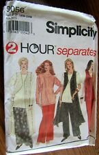 Simplicity Pattern #9056 2 hour Separates WOMEN'S PULL-ON PANTS-TOP+ Sz 18W-24W