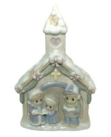 Precious Moments Sugar Town Church Night Light Children Holiday Carolers