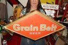 """Rare Vintage 1960's Grain Belt Beer Bar Tavern 2 Sided 28"""" Lighted Metal Sign"""