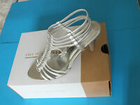 Women's High Heel Silver Summer Sandals - Call it Spring  £48.00 New  Free P & P