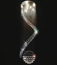 XL Hängeleuchte Kronleuchter Kristall 2m lang Deckenlampe Design Galass-XL Ø60cm
