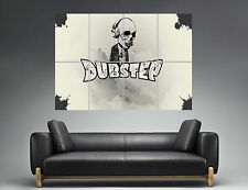 DUBSTEP COOL SKULL Wall Art Poster Grand format A0 Large Print
