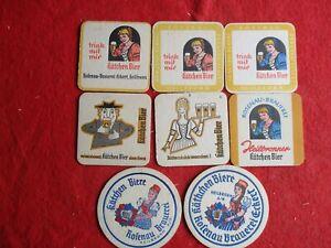 Heilbronn 8 verschiedene Bierdeckel der Brauerei Kätchen  X 1975