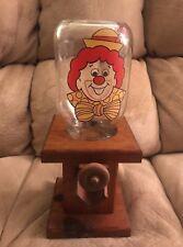 """Wooden Clown Bubble Gum Dispenser  13"""" Detachable Mason Jar 1996 RARE"""